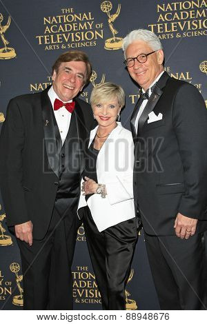 LOS ANGELES - APR 24: David Michaels, Florence Henderson, Bob Mauro at The 42nd Daytime Creative Arts Emmy Awards Gala at the Universal Hilton Hotel on April 24, 2015 in Los Angeles, California