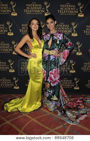 LOS ANGELES - APR 24: Vannessa Vasquez, Camila Banus at The 42nd Daytime Creative Arts Emmy Awards Gala at the Universal Hilton Hotel on April 24, 2015 in Los Angeles, California