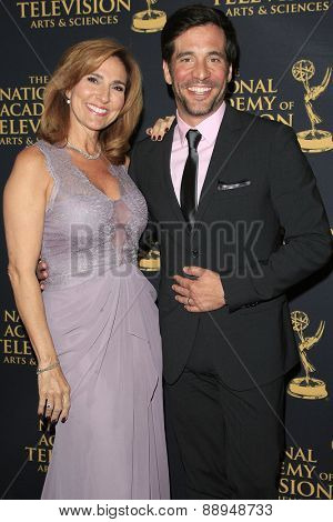 LOS ANGELES - APR 24: Marilyn Milian, JD Roberto at The 42nd Daytime Creative Arts Emmy Awards Gala at the Universal Hilton Hotel on April 24, 2015 in Los Angeles, California