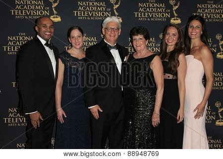 LOS ANGELES - APR 24: Bob Mauro, family at The 42nd Daytime Creative Arts Emmy Awards Gala at the Universal Hilton Hotel on April 24, 2015 in Los Angeles, California