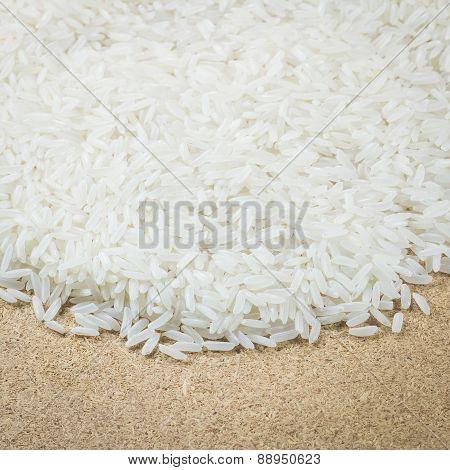 Thai Jasmin Rice Background