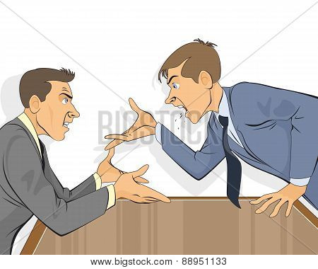 Businessman Dispute In Office