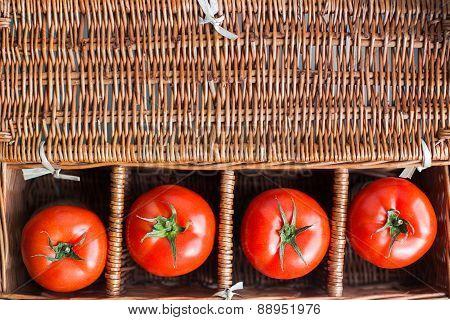 Four Fresh Tomatoes