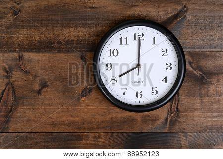 clock on old wood