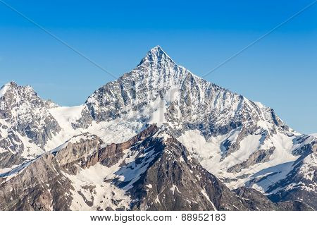 Snow Mountain Range At Alps Region, Switzerland