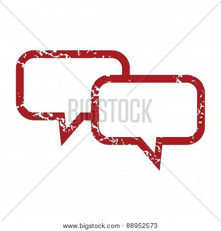 Red grunge conversation logo