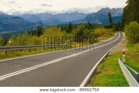 Road in mountains.