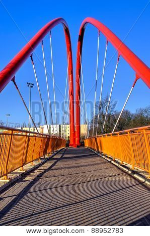Footbridge Across The Road