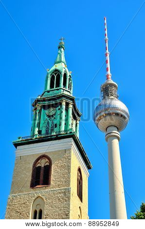 TV Tower in Berlin Germany.