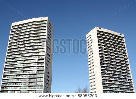 Modern apartments buildings