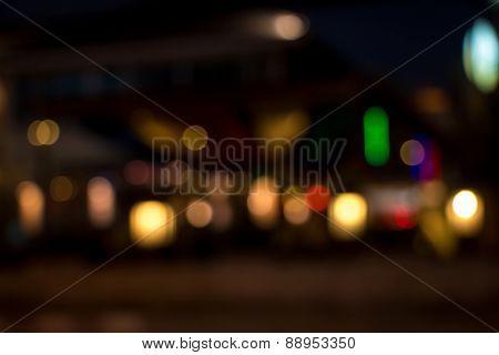Blurry Street Light