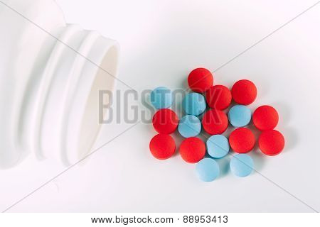 Red And Blue Drug Pills