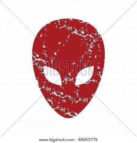 Red grunge extraterrestrial logo