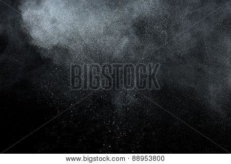 Abstract white powder