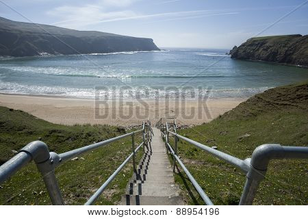 Steps to the Silver Strand Beach