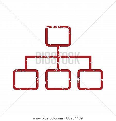 Red grunge structure logo
