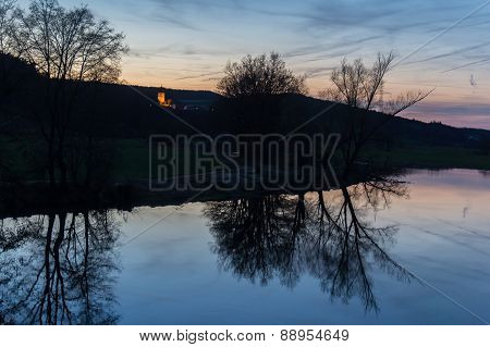 River Naab In Spring