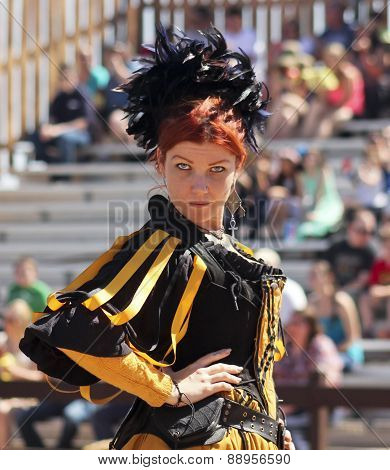 A Red Haired Wench At The Arizona Renaissance Festival