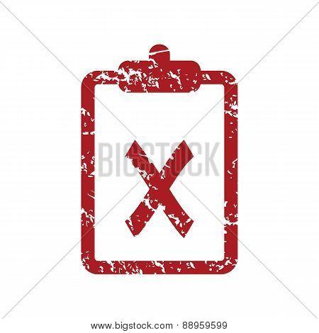 Red grunge list no logo