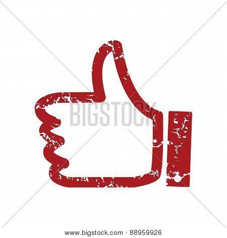 Red grunge like logo
