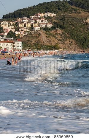Alanya - the beach of Cleopatra . Alanya is one of most popular seaside resorts in Turkey
