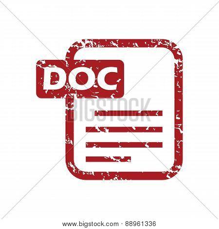 Red grunge doc logo