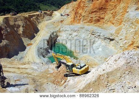 Yellow loader, dredge