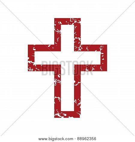 Red grunge Christianity logo