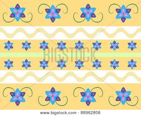 Seamless Floral Pattern In Retro Style