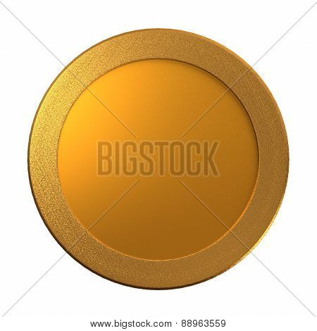 Gold Coin Medal Template