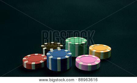 Casino Chips Low Angle Dark