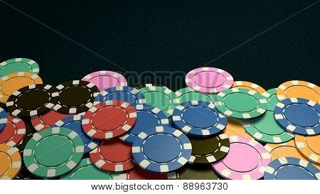 Casino Chips Show Hand Dark Background