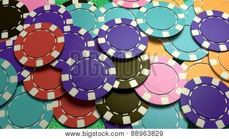 Mass Casino Chips Colorful