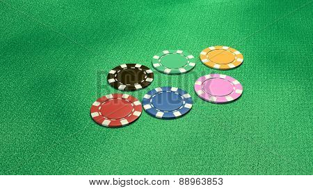 Single Of 6 Casino Chips