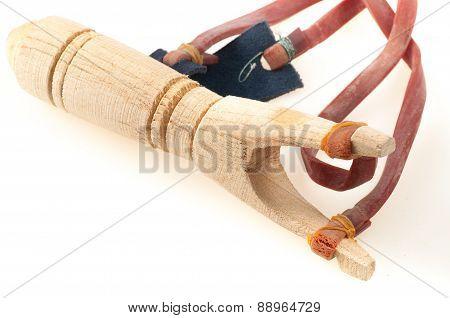 Wooden Slingshot With Elastic