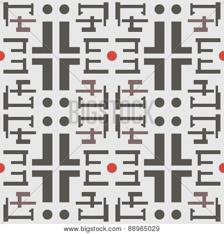 Abstract Seamless Geometric Pattern In A Modern Style