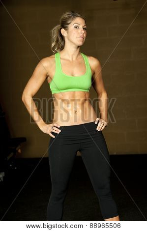 muscular brunette