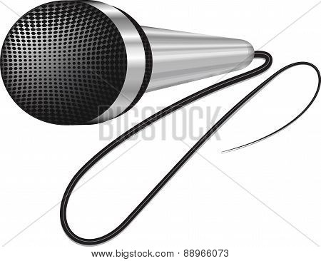 A realistic Image microphone. Vector illustration for your design.