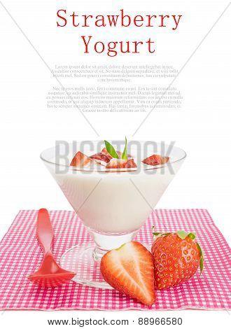 Strawberry yogurt dessert