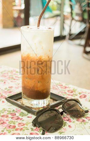 Cold Glass Of Milk Mocha