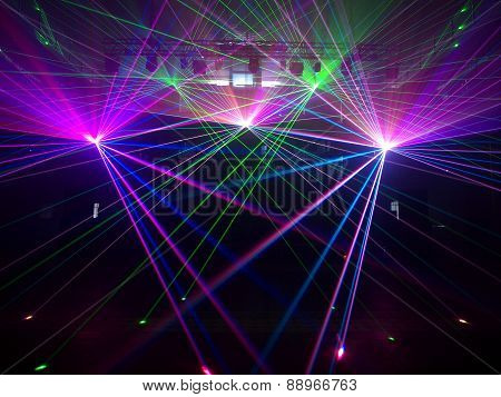 Lasers in the machine room.