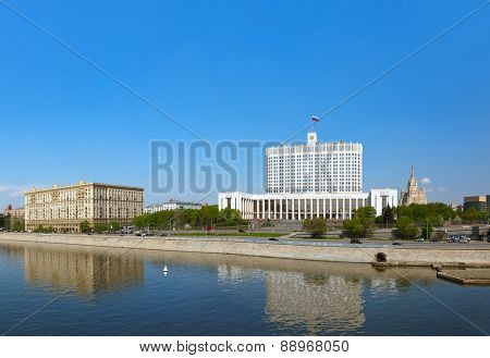 Panorama of Moscow - White House - center of Russian government - Russia