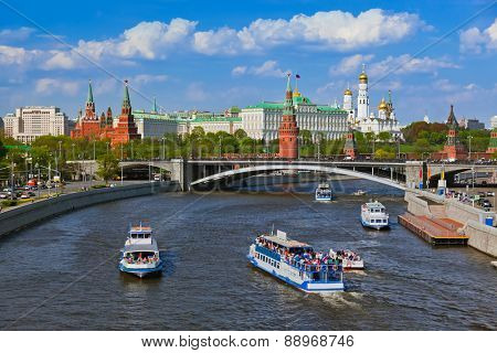 Kremlin in Moscow Russia - architecture background