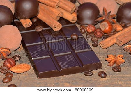 Dark Chocolate And Truffles