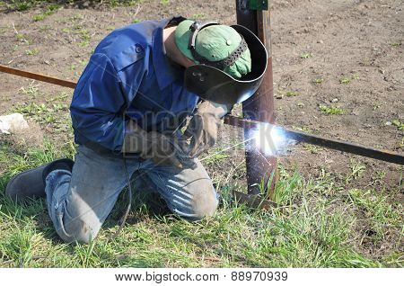 Welder Outdoor Working