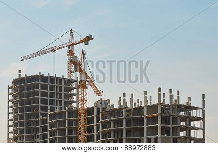 Construction of new apartment building