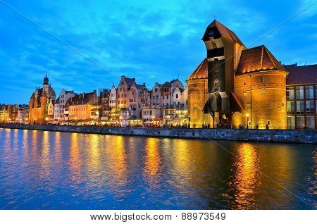 Gdansk by night, Poland