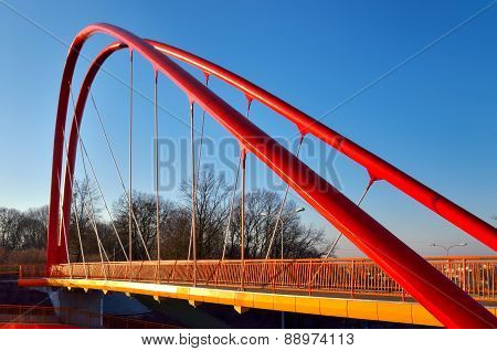 Footbridge across the road.