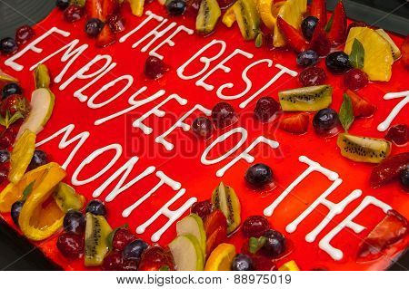 Cake For Best Employee Of The Month
