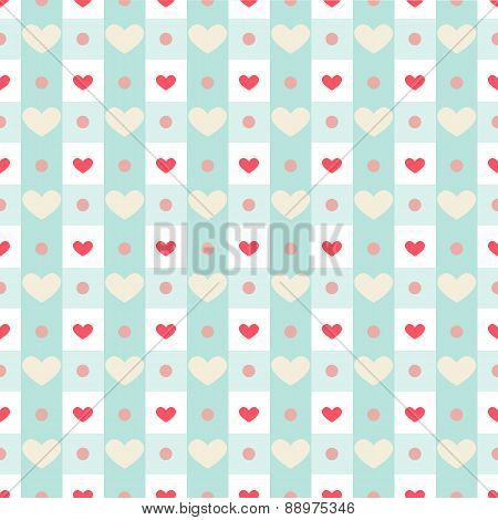 Retro Hearts With Gingham